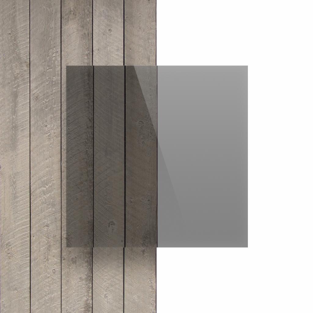 Devant plaque PVC solide transparent