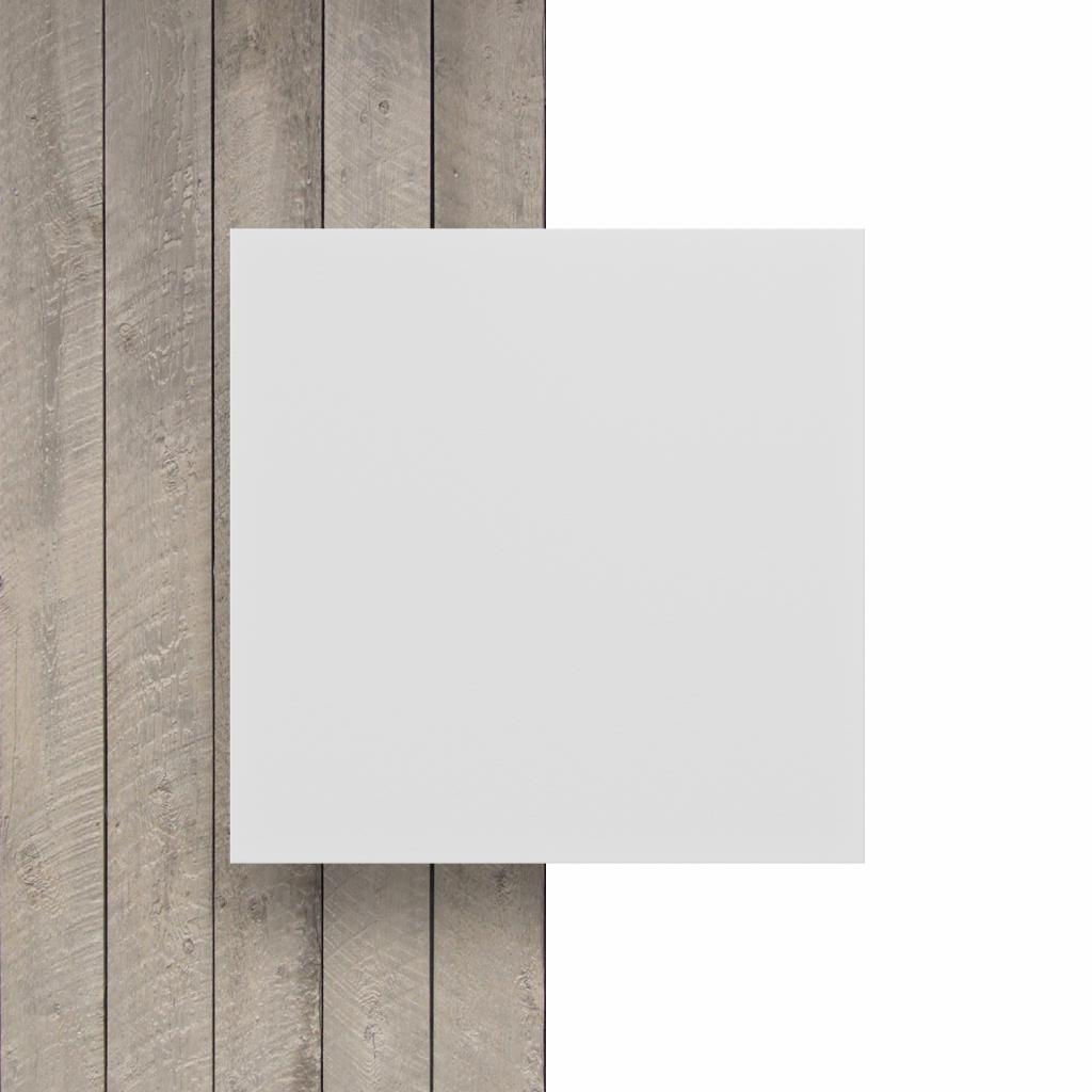 Devant plaque PVC mousse blanc