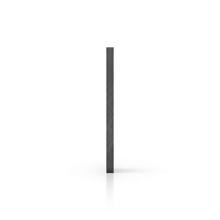 Cote plaque plexiglass teinte gris