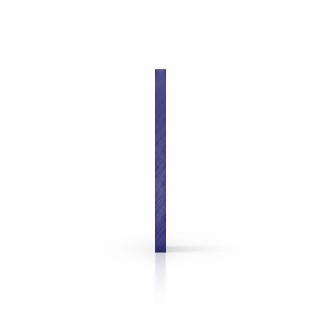 Cote plexiglass reflechissant bleu
