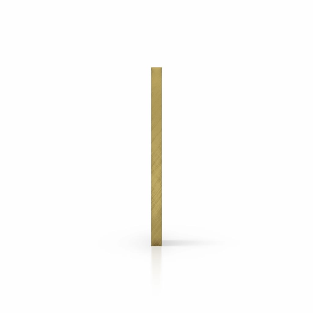 Cote plexiglass reflechissant or
