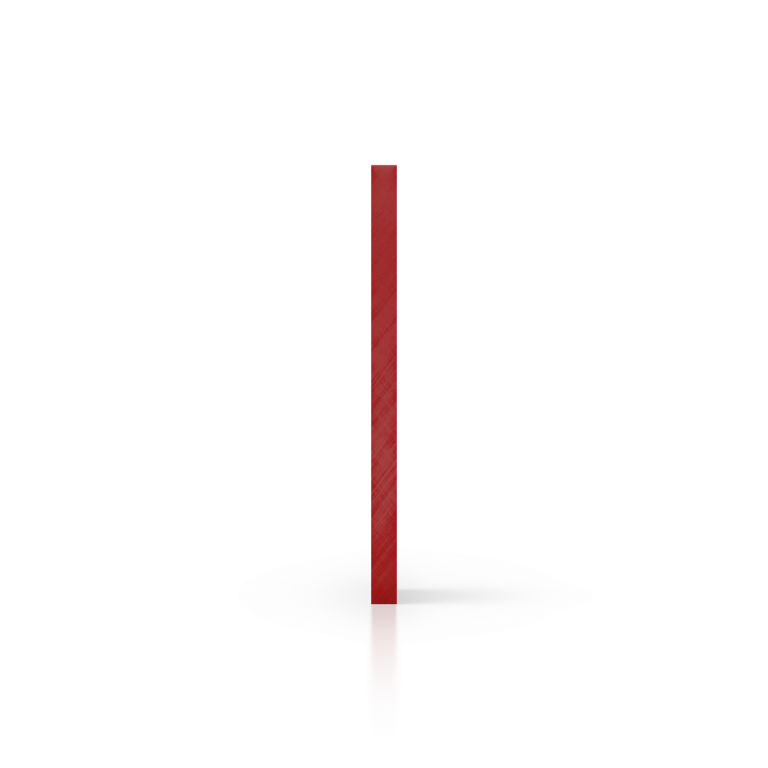 Cote plexiglass reflechissant rouge