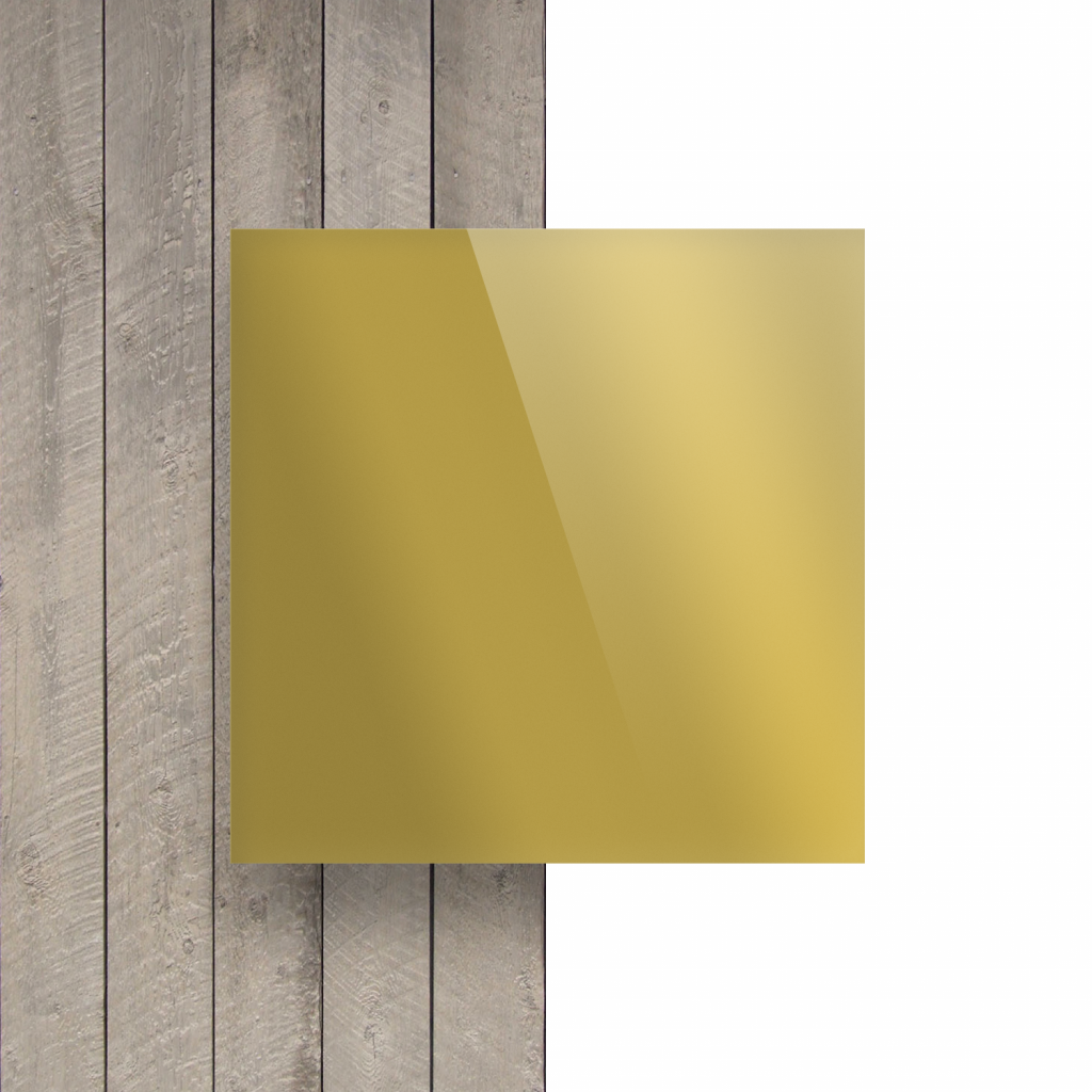 Devant Plexiglass reflechissant or