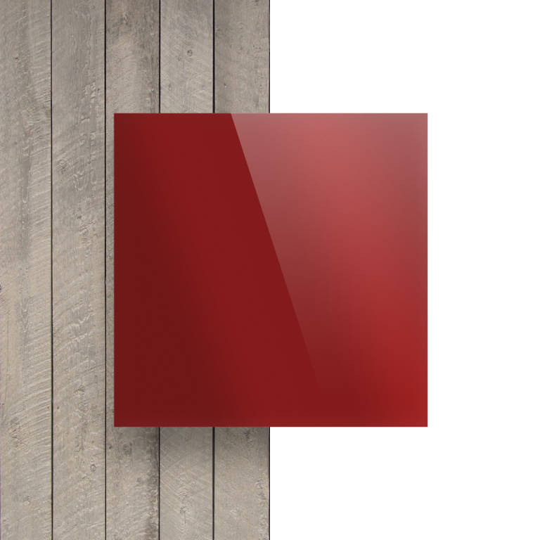 Devant Plexiglass reflechissant rouge