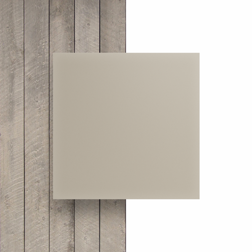 Devant plaque Plexiglass blanc creme satine