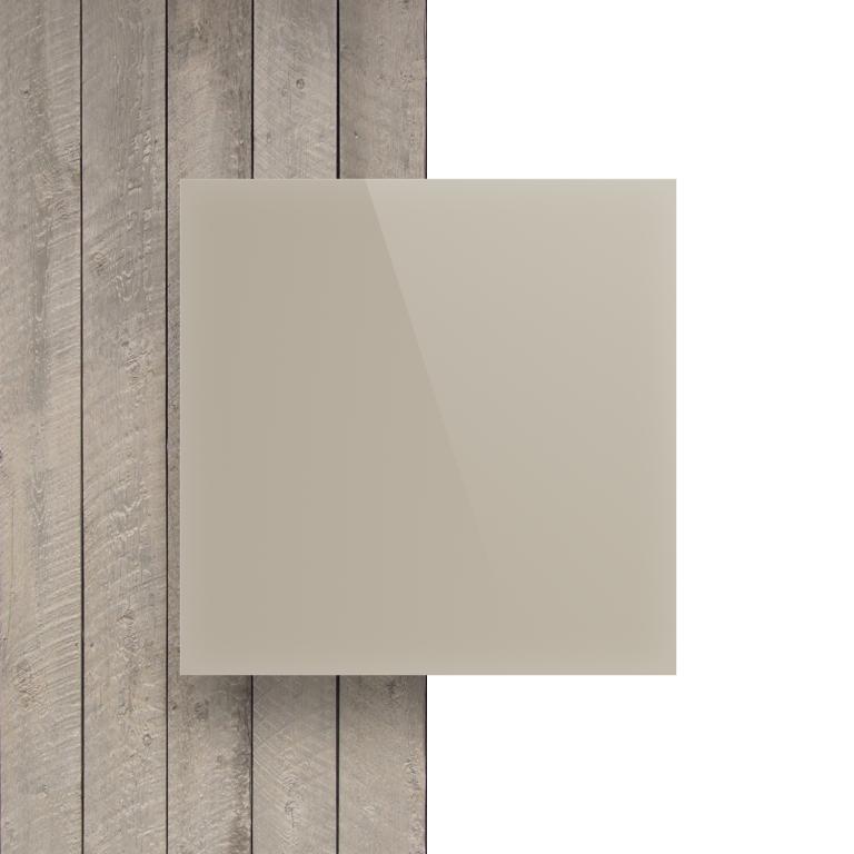Devant plaque Plexiglass blanc creme satine brille