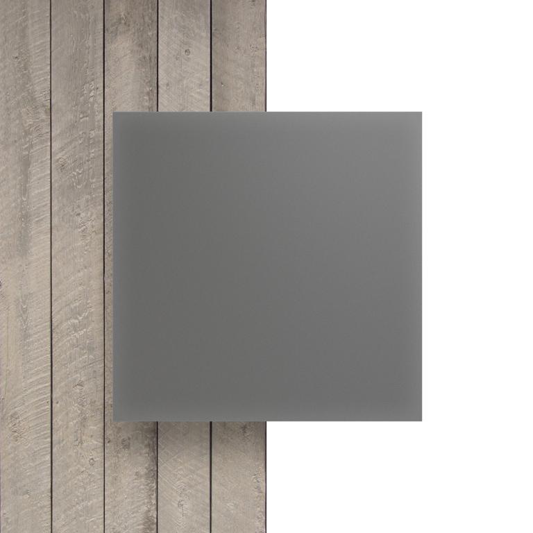 Devant plaque Plexiglass gris cement satine