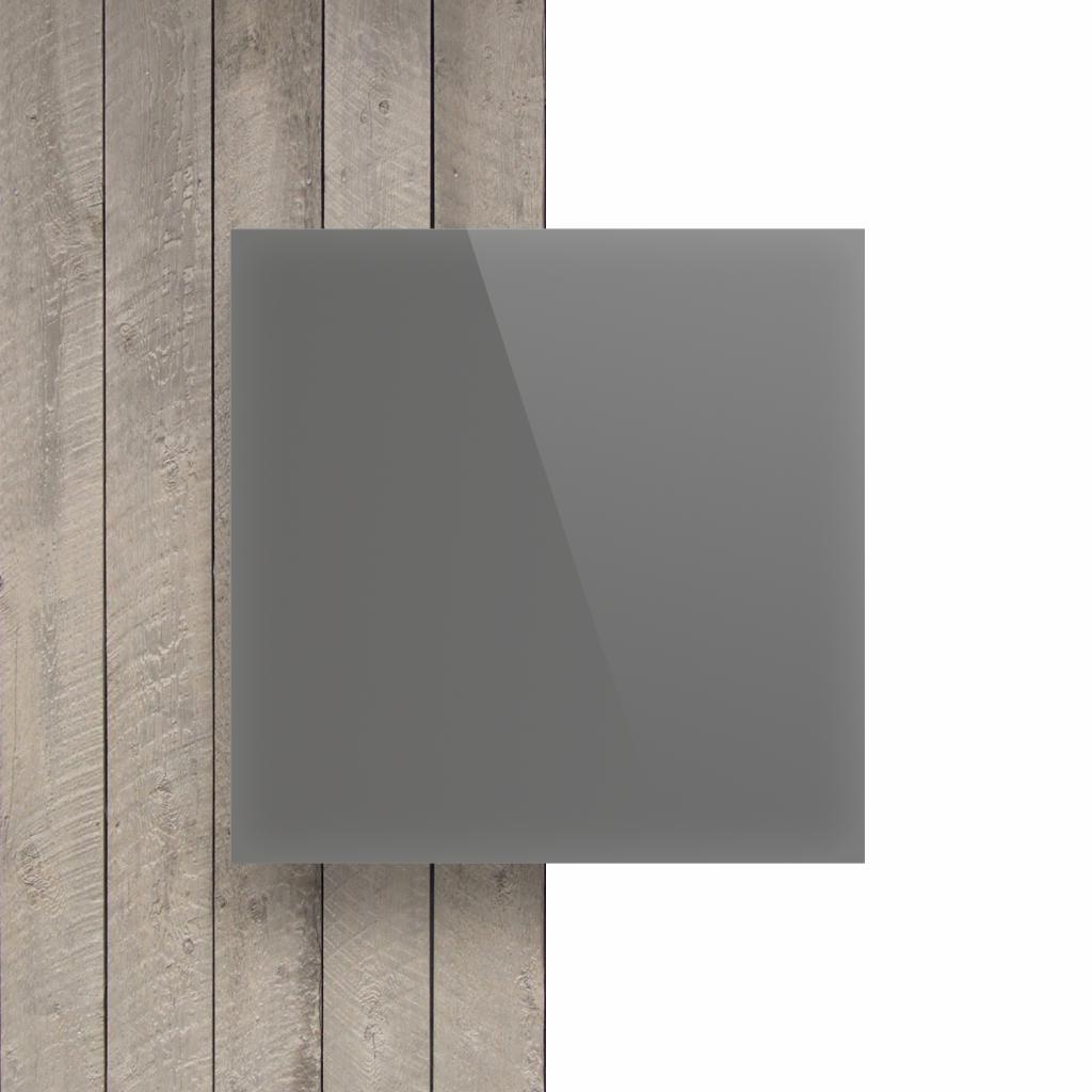 Devant plaque Plexiglass gris cement satine brille