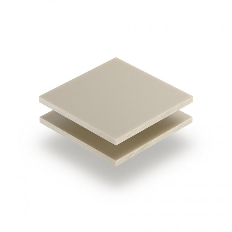 Plaque Plexiglass blanc creme satine