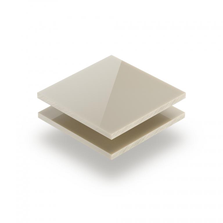 Plaque Plexiglass blanc creme satine brille