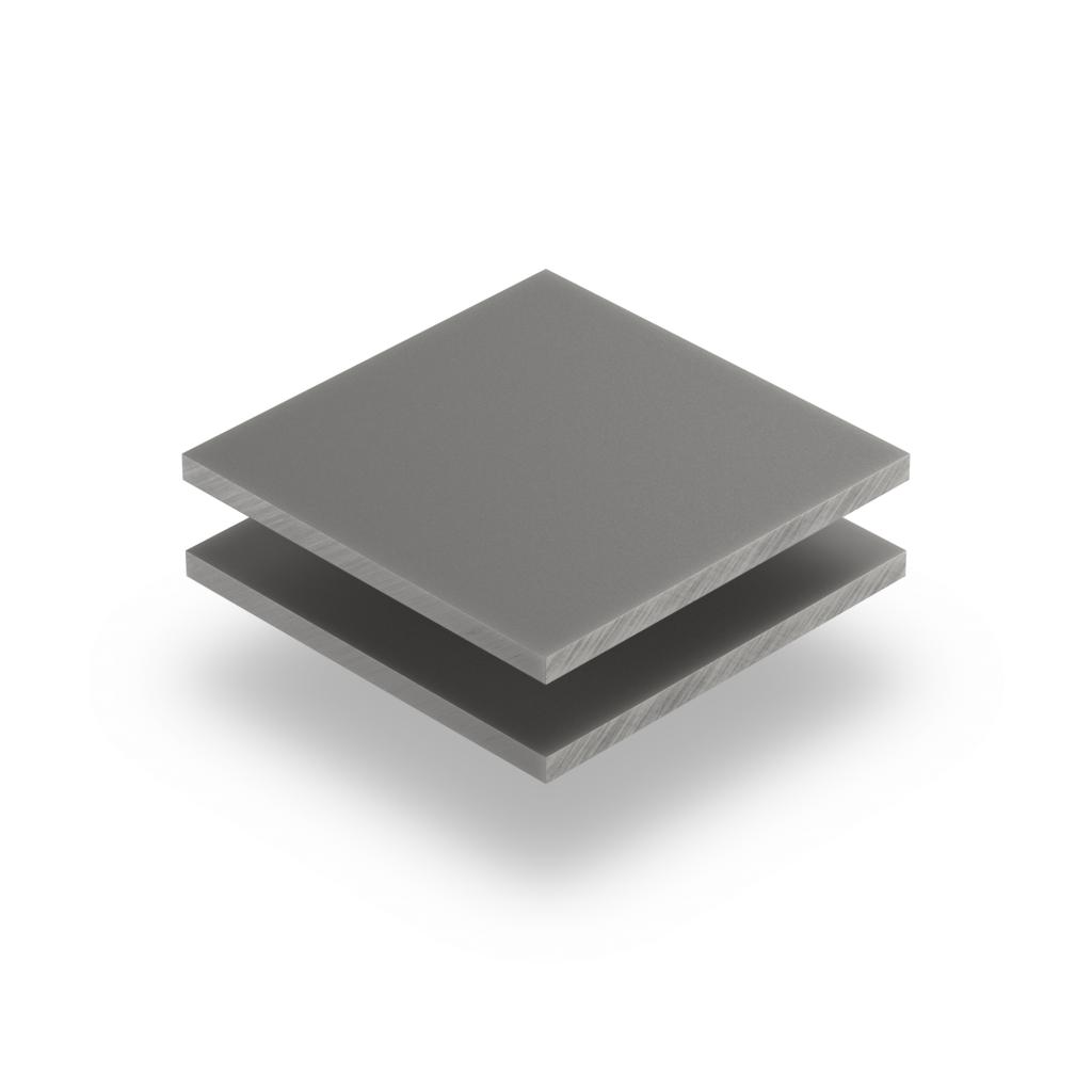 Plaque Plexiglass gris cement satine