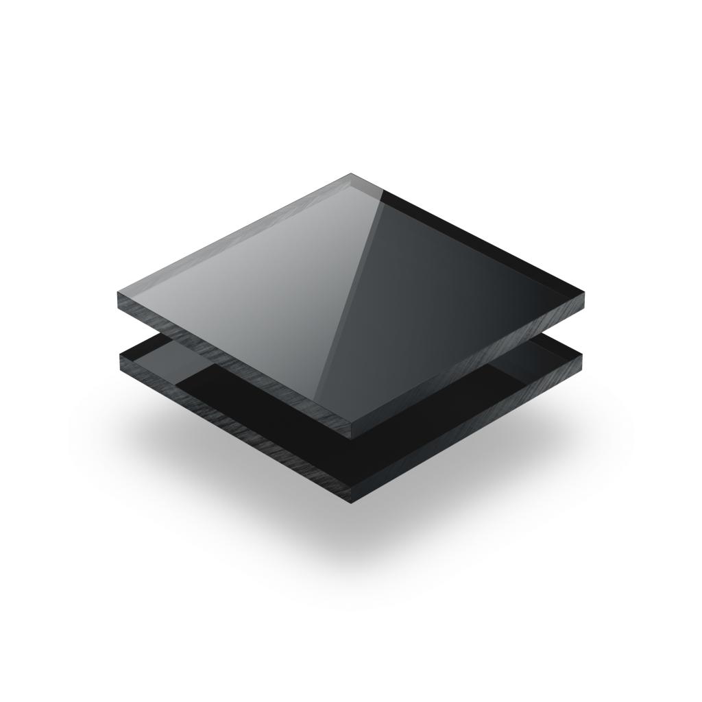 Plaque Plexiglass reflechissant anthracite