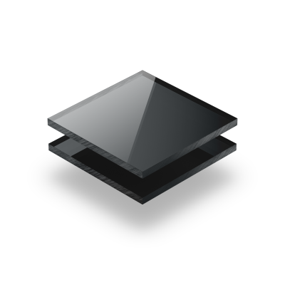 Plaque Plexiglass reflechissant anthracite