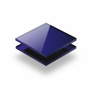 Plaque Plexiglass reflechissant bleu