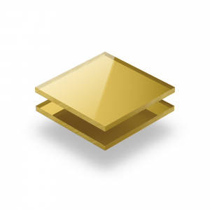 Plaque Plexiglass reflechissant or