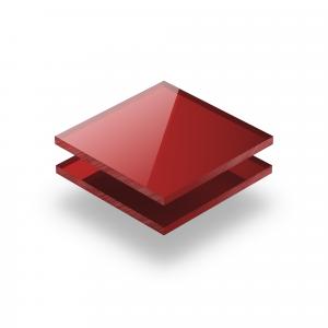 Plaque Plexiglass reflechissant rouge