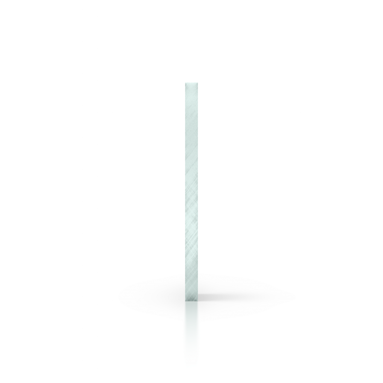 Cote plaque plexiglass teinte aspect de verre