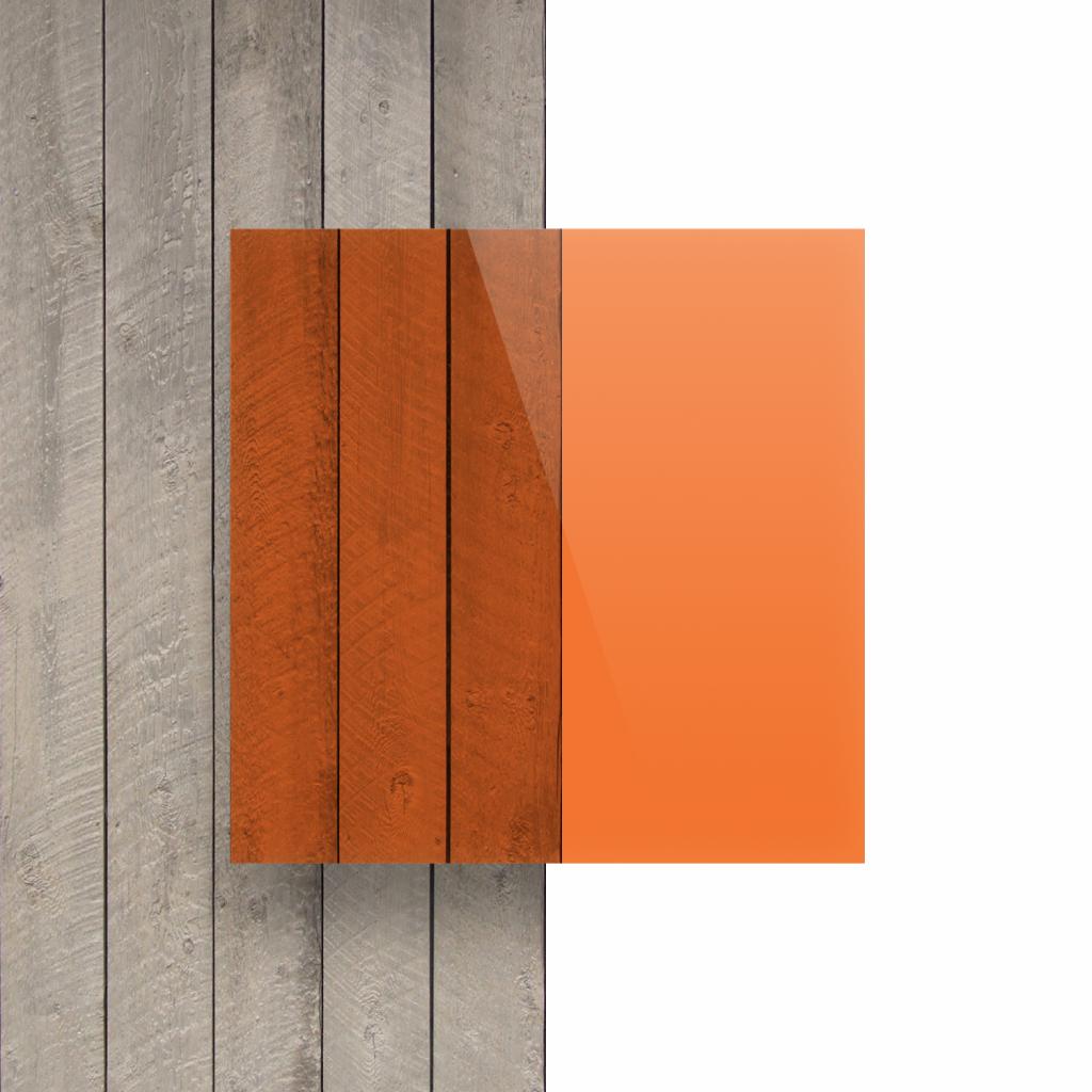 Devant Plexiglass teinte orange