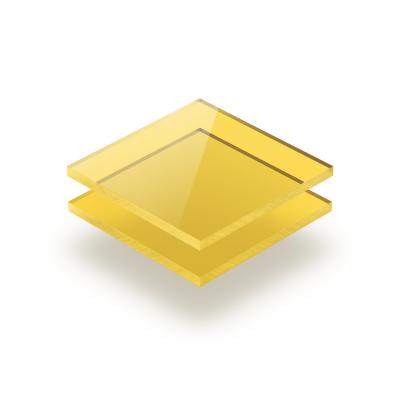 Plaque Plexiglass teinte jaune