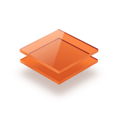 Plaque Plexiglass teinte orange
