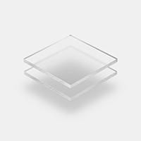 Plexiglass mat givre