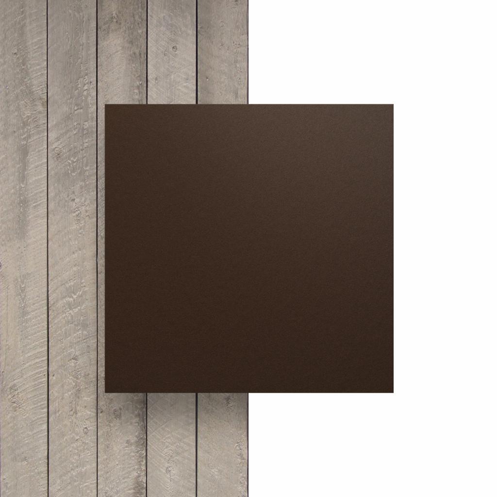 Devant plaque HPL brun chocolat