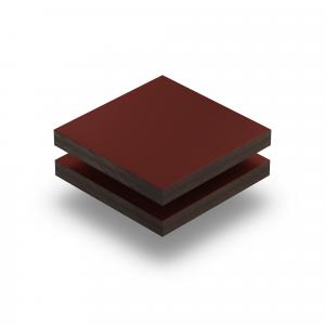 Plaque HPL rouge vin