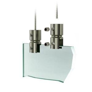 Systeme de suspension plexiglass - Support de plaque