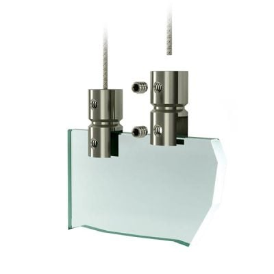 Systeme de suspension plexiglass - Support de plaque