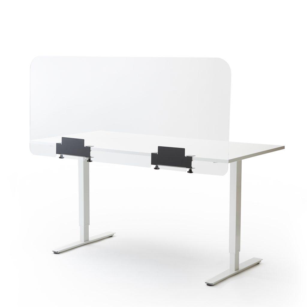 Ecran de bureau ou de table en plexiglass grand