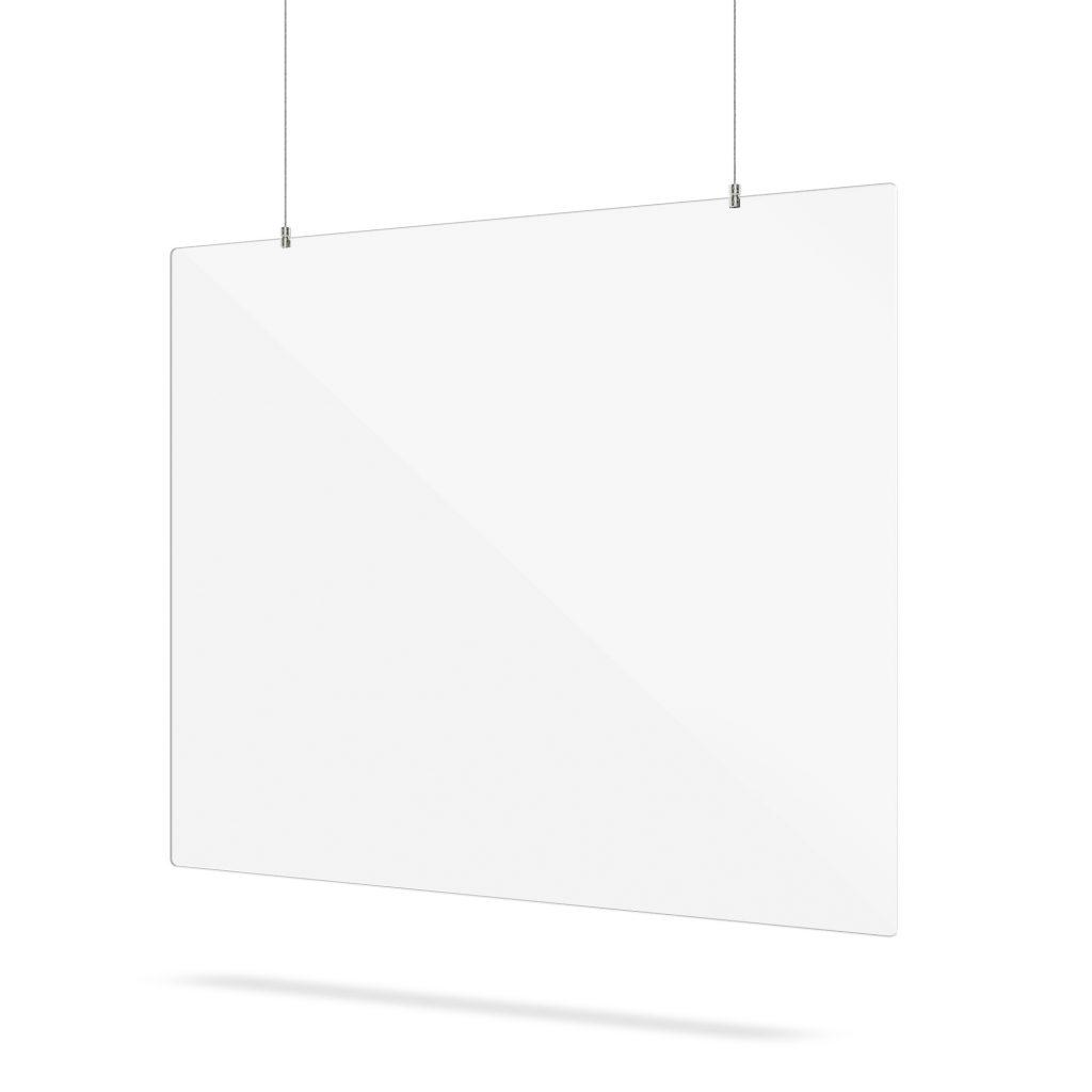 Ecran en acrylique avec systeme de suspension