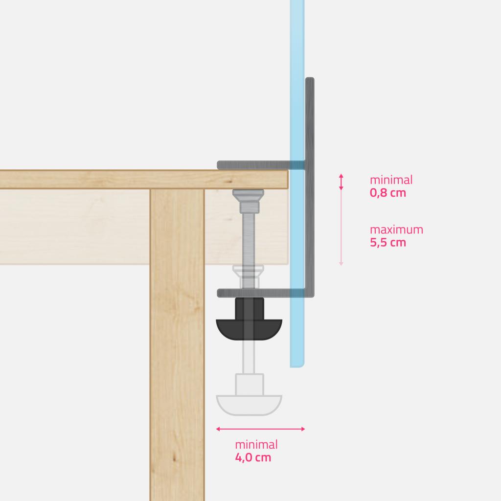 Grande pince de table - dimensions