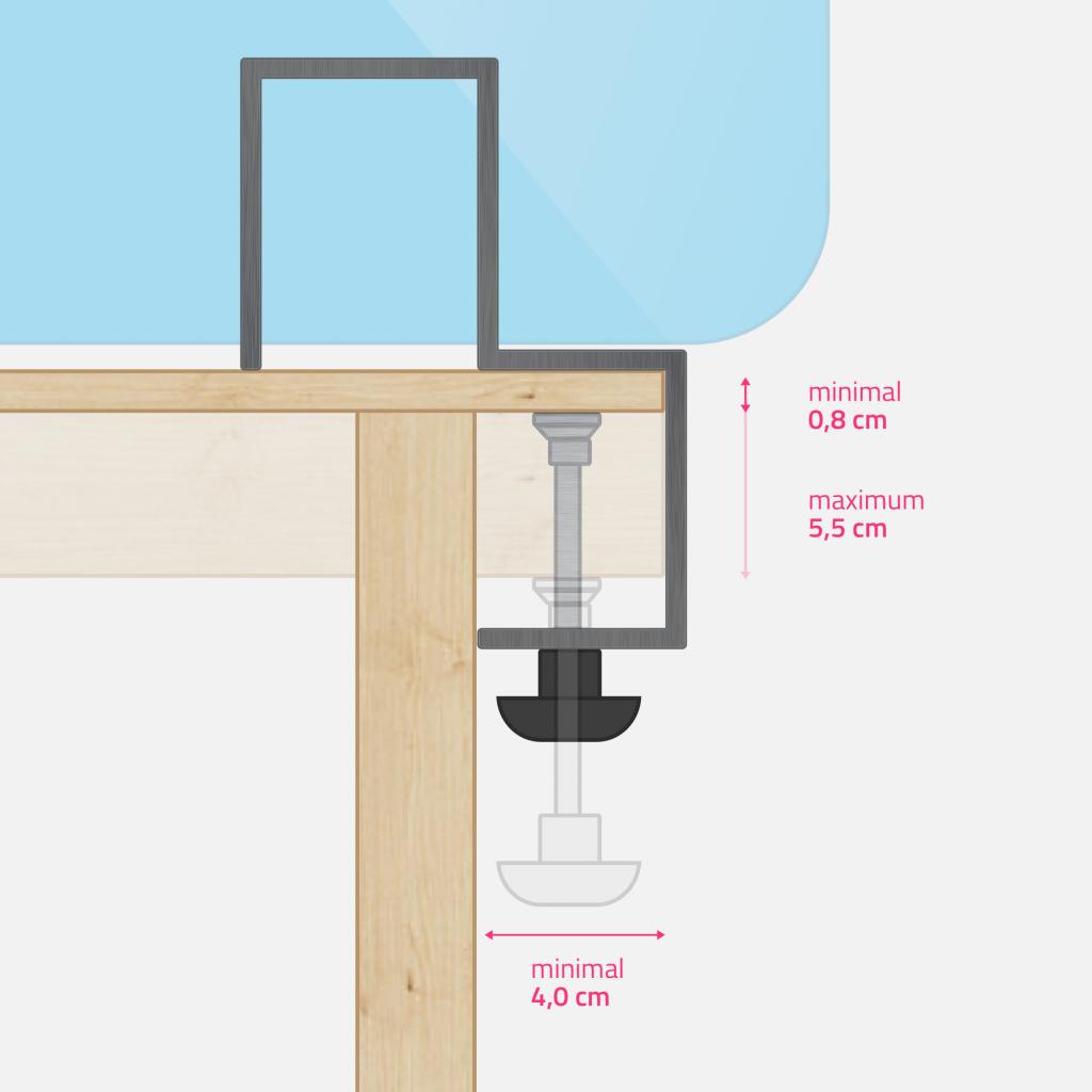 Petite pince de table - dimensions