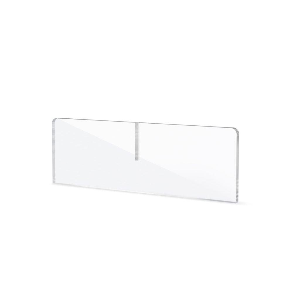 Pied en plexiglass pour ecran de protection comptoir