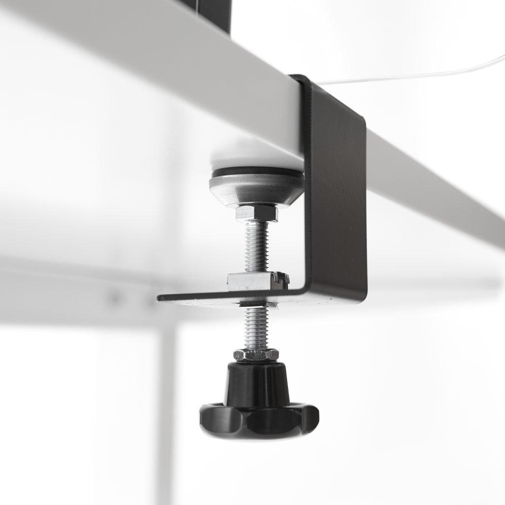 Support pour feuille acrylique avec pince a vis