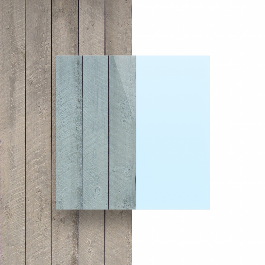 Devant Plexiglass fluorescent bleu