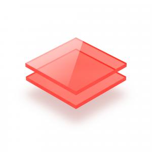 Plaque Plexiglass fluorescent rouge