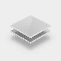Plaques de plexiglass blanc opale