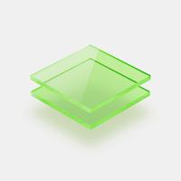 Plaques de plexiglass fluorescent