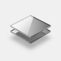 Plaques de plexiglass miroir
