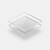 Plaques de plexiglass translucide
