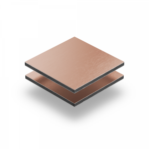 Alupanel brossé cuivre 3 mm