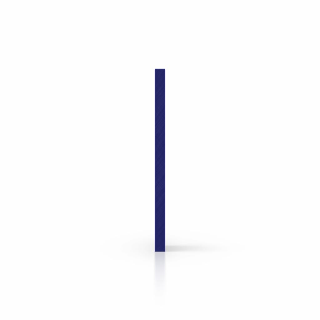 Plaque avec lettres bleu nocturne côté