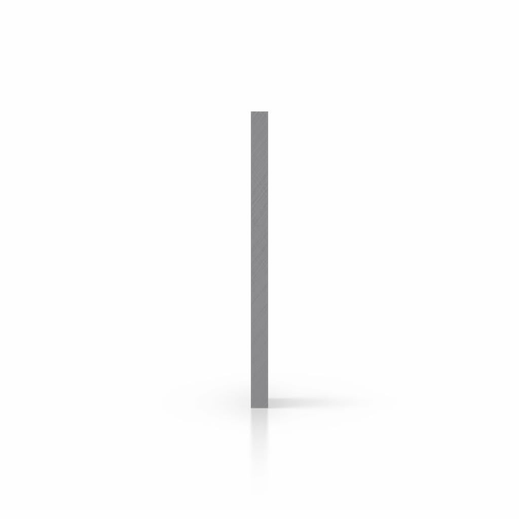 Plaque avec lettres gris côté