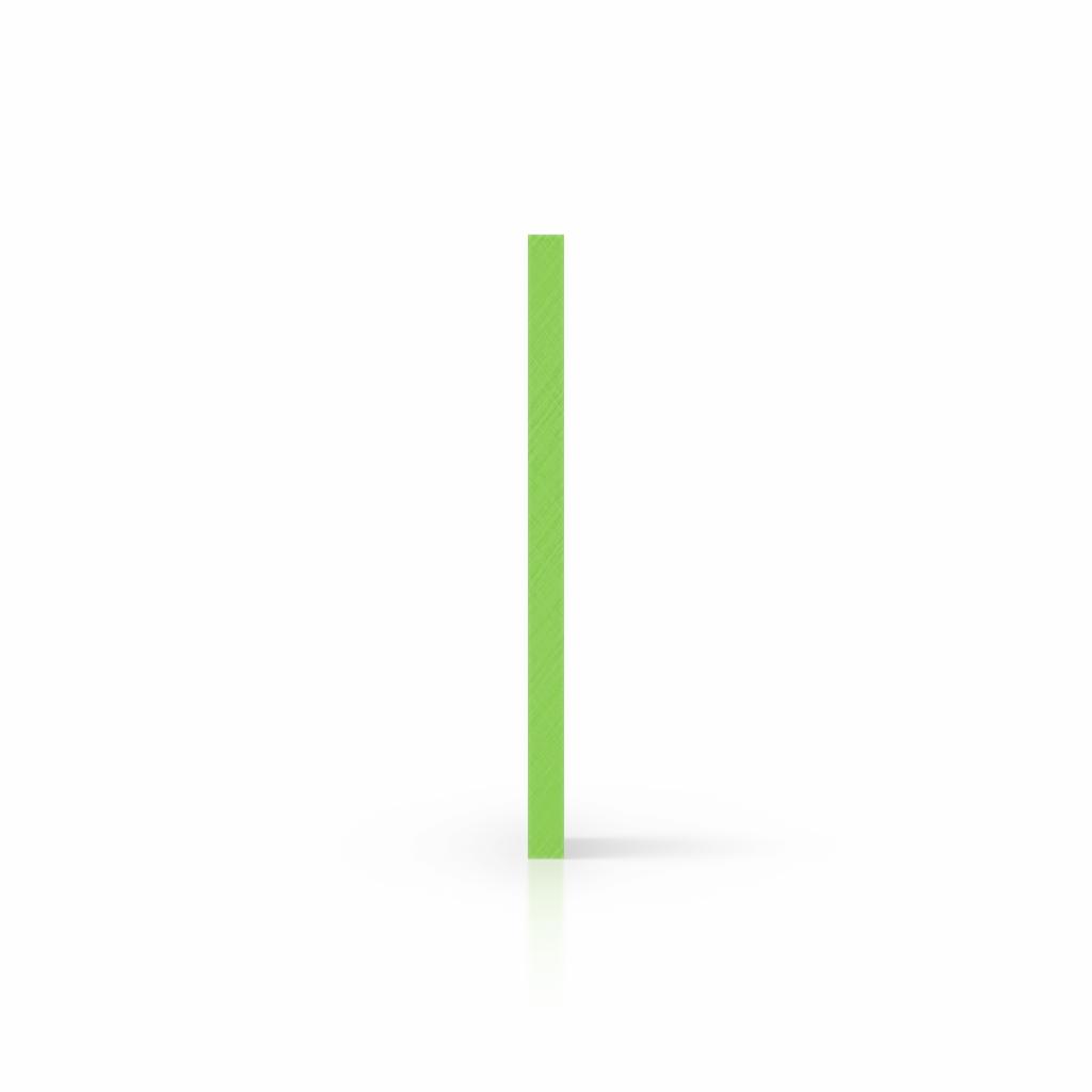 Cote plaque de lettres plexiglass vert jaune