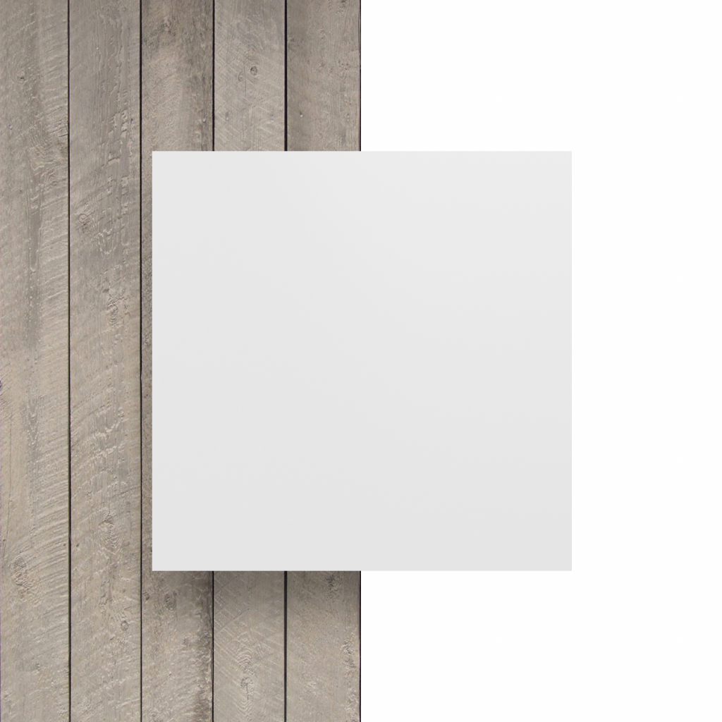 Devant plaque de lettres en plexiglass blanc mat