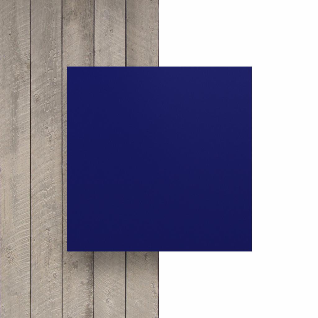 Devant plaque de lettres en plexiglass bleu nocturne mat