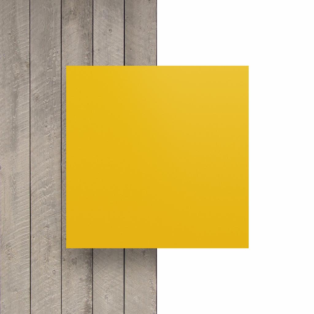 Devant plaque de lettres en plexiglass jaune signalisation mat