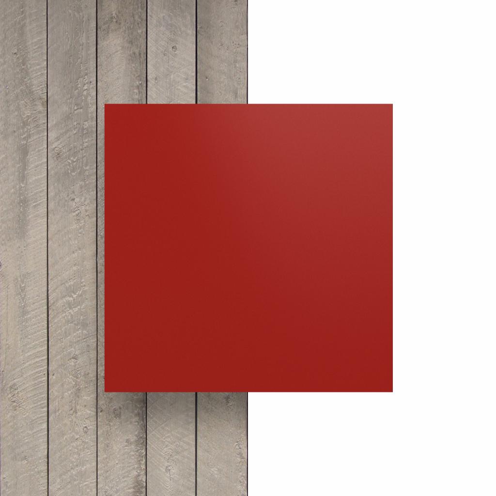 Devant plaque de lettres en plexiglass rouge de securite mat