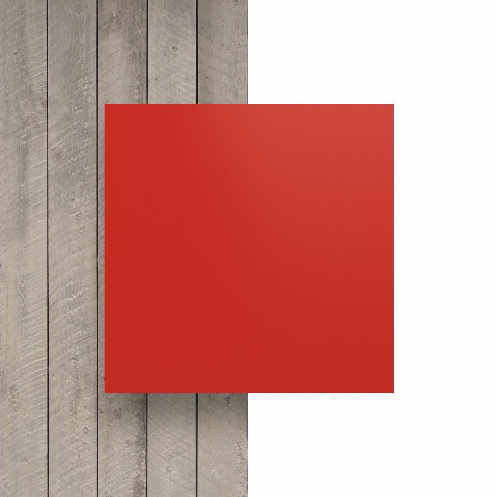 Devant plaque de lettres en plexiglass rouge signalisation mat